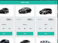 Pick a Cab - Modal Window