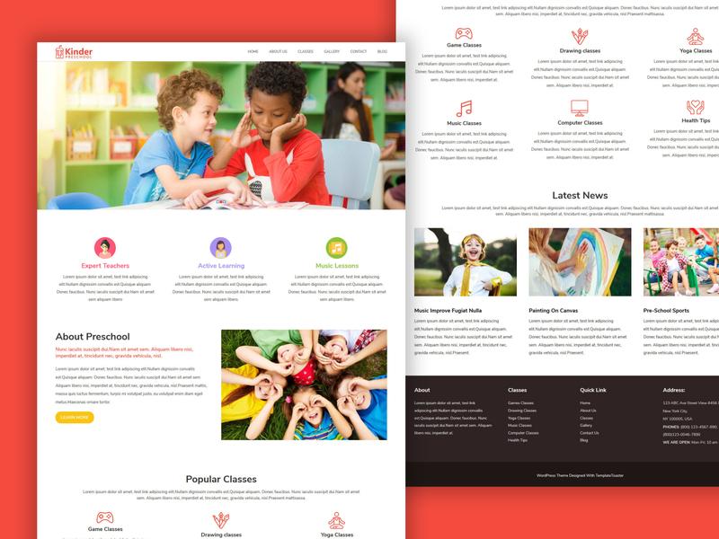 TemplateToaster Website Builder | Kinder preschool WP theme