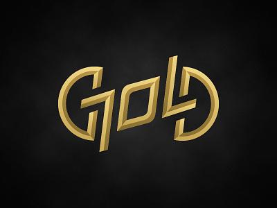 """Gold"" ambigram logo magician magic symmetry type typography gold logo ambigram"