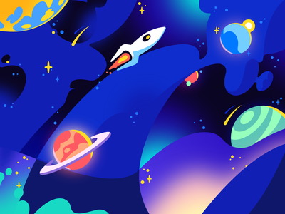 Outer Space for Could vector outerspace graphic illustration drawing stars space illustration galaxy