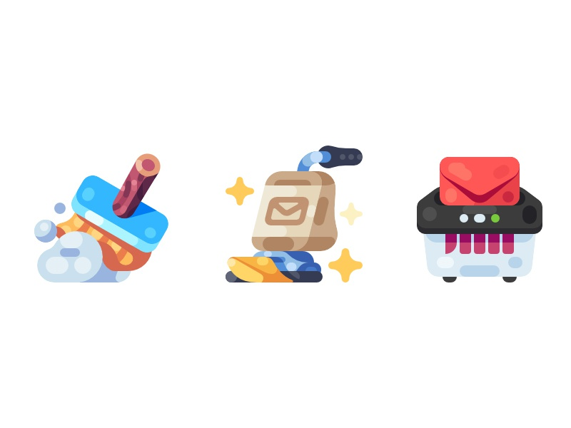 Email Cleanup Illustrations cleanup clean illustration icon
