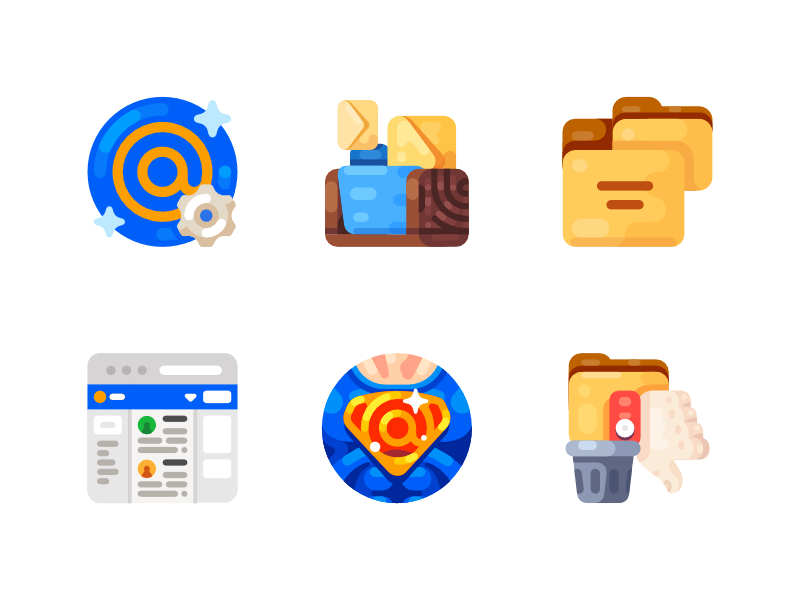 Medium-Sized Icons, part 11 icon illustration