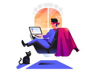 Atom Browser Illustration: Secure Browsing