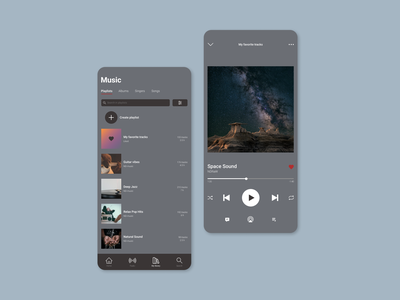 Music Player ux app ui illustration design dailyui