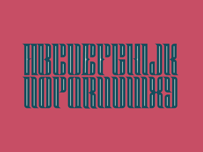 Type Design red condensed type letterform fontdesign design blackletter font typedesign typeface lettering type design