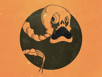 Ahh Skeleton! crosshatch boo halloween spooky texture illustrator photoshop illustraion bones bone skulls skull skeletons skeleton