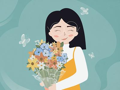 Spring mood illustration illustrator ui flat vector illustration art illustration character art