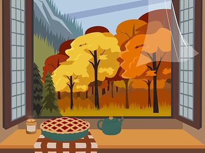 Autumn Story - Illustration graphic design ui design vector art illustrator flat illustration art illustration