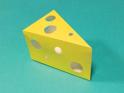 Kwik-Krafts / 5.24 / Swiss Cheese kwik-krafts cut fold swiss cheese craft paper paper craft