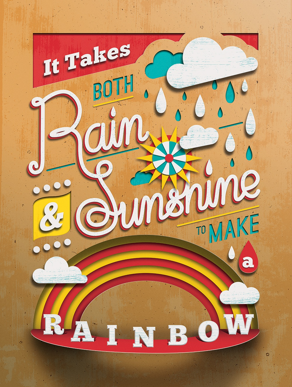 Dribbble Drib Tommy Perez Helpink Rainshineposterjpg By Tommy Perez