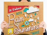 Help Ink / Rain & Shine Print