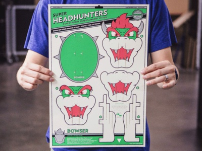 Super Headhunters - Bowser Edition tmnt turtles in time super mario bros laser cut shredder bowser kwik-krafts craft paper