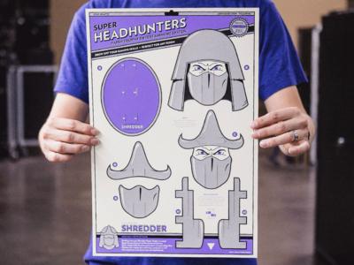 Super Headhunters - Shredder Edition paper craft kwik-krafts bowser shredder laser cut super mario bros turtles in time tmnt