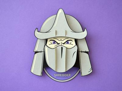Super Headhunters - Shredder - Paperkraft paper kraft paper craft kwik-krafts laser cut screenprint tmnt shredder