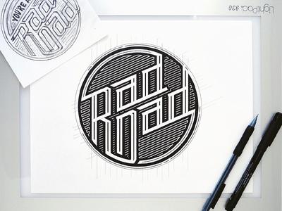 Rad Dadz typography hand lettering rad dad