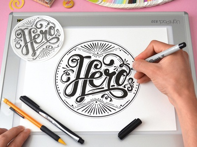 There goes my... hand lettering hero typography dad