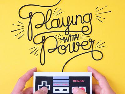 Kwik-Krafts / 8.19.14 / NES Controller paper craft papercraft fold cut glue kwik-krafts nes nintendo controller typography