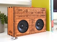 Wooden boombox tommy perez front