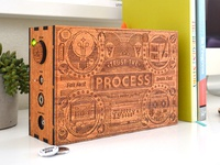 Wooden boombox tommy perez back
