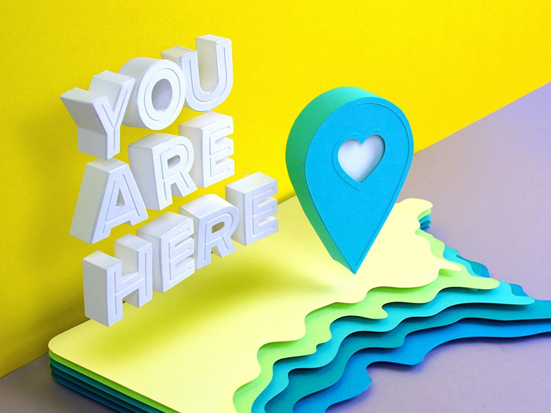 I Am Here minnesota location pin papercraft paper kwik-krafts