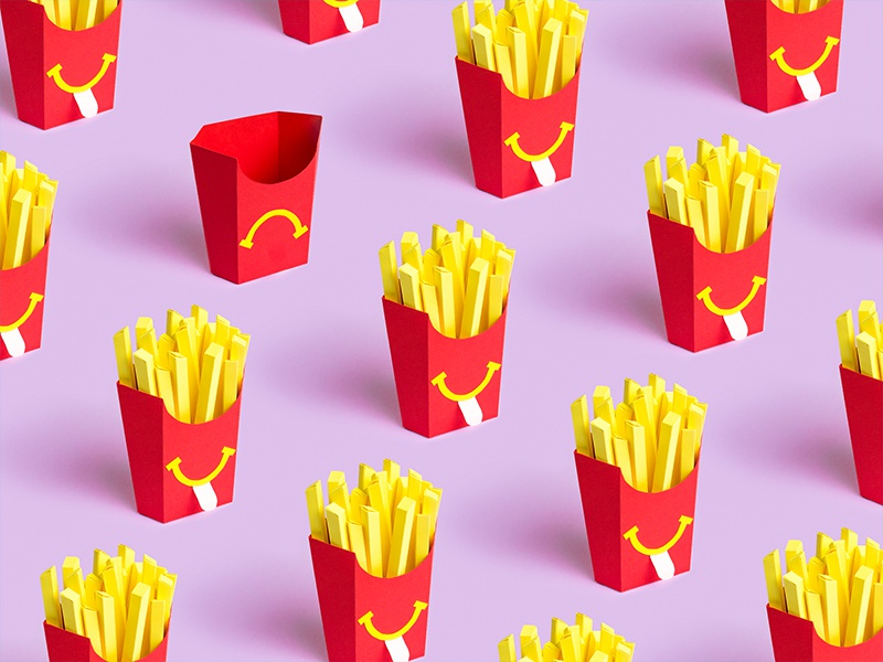 Fryday pattern mood fries papercraft paper