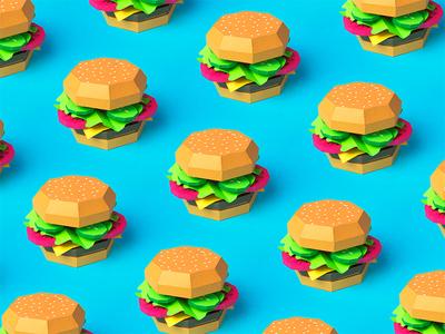 Burgz pattern mood burger papercraft paper
