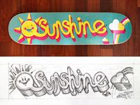 Sunshine skateboard dribble 1 lrg