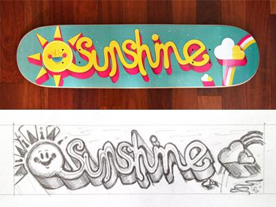 Sunshine skateboard dribble 1