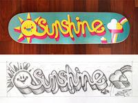 Sunshine Skateboard Printed