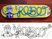 Robot Skateboard - Printed