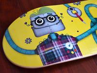 Robot Skateboard - Printed 1 (detail pics)