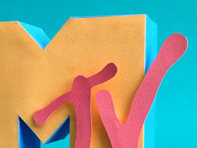 Kwik-Krafts / 8.01 / MTV Debuted kwik-krafts paper craft cutout fold letters colorful mtv