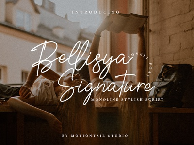 Bellisya Signature Font lettering art type website app web branding logo design typography