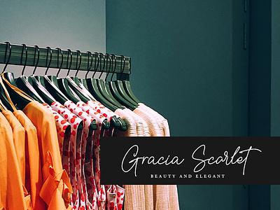Gracia Scarlet - Bellisya Signature Lovely Font app animation web logo ui typography type lettering design branding