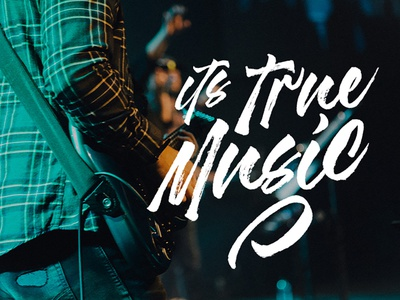 Music - Madness textured brush font logo app animation illustration website design branding lettering type typography