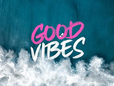 GOOD VIBES - CRAFTER art animation illustration website typography type lettering design branding app