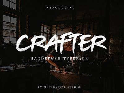 CRAFTER HANDBRUSH TYPEFACE illustrator flat animation website typography type lettering design branding app