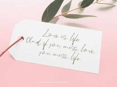 love is life web logo illustration animation website branding typography lettering design app