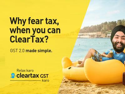 Cleartax - Banner branding design