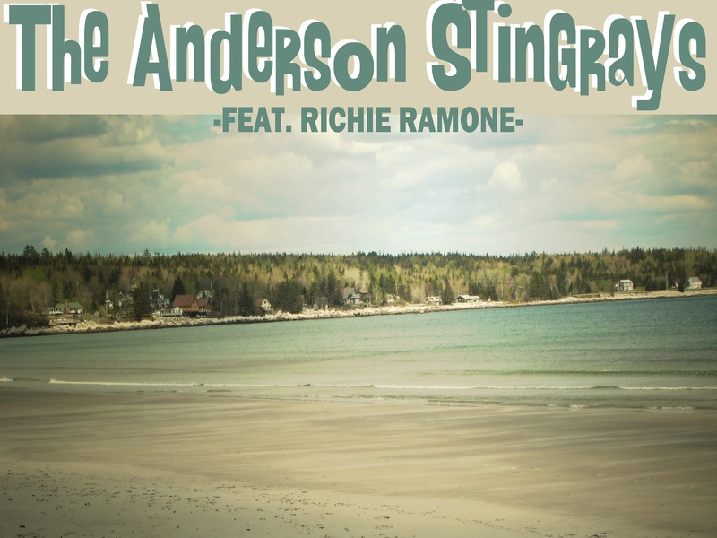Anderson Stingrays single cover photography typography design color retro type photoshop photo album cover cover art single cover cd cover finger lakes new york rochester music