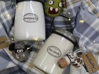 Holidays with Milkhouse Creamery Candles and Woolbuddy