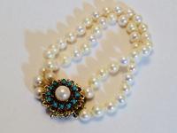 Closeup of vintage pearls