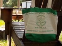 Repurposed feedbag-turned-tote