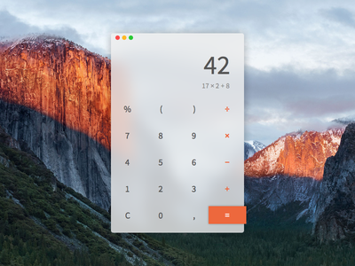 Daily UI #004 - Calculator apple minimal application app osx software calculator design ui dailyui