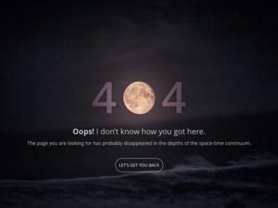 Daily UI #008 - 404 Page 404 page space ux error website 404 design ui dailyui web