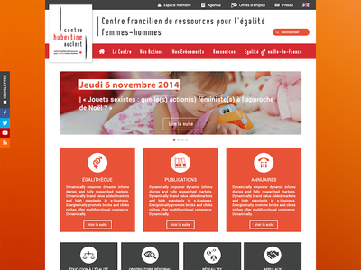 Web design - Centre Hubertine Auclert Paris web design homepage interface website web minimal clean ux ui design