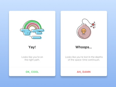 Daily UI #011 - Flash message (error/success) illustration alert clean ux success error design cards 011 ui daily daily ui