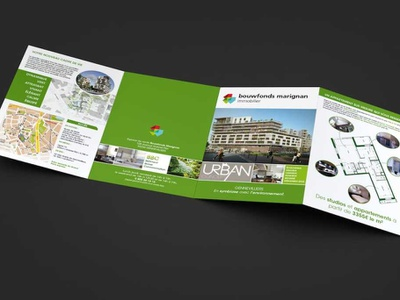 Leaflet for Bouwfonds Marignan brochure design leaflet design layout design layout leaflet brochure