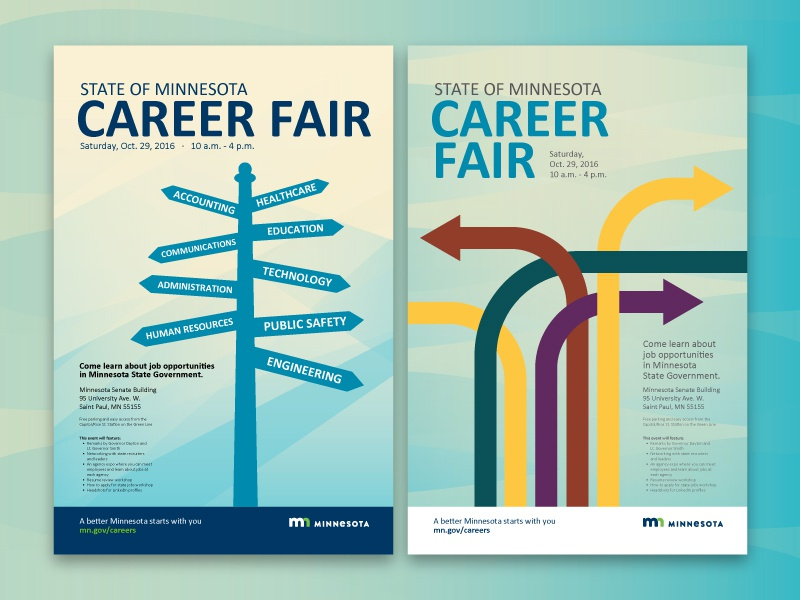 Career Fair Posters by Adam Oie - Dribbble