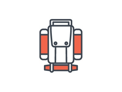 Backpack icon camping backpack pictogram simple